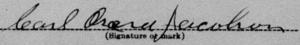Carl Oscars namnteckning 1917.