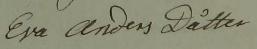 Eva Andersdotter 1832 när mannen dött.