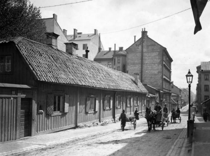 Kv. Sandberget på Luntmakargatan runt sekelskiftet. Källa: Stockholmskällan.