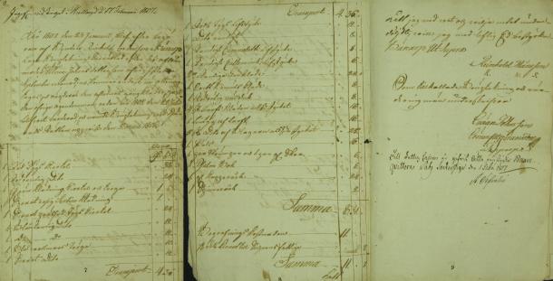 Ulrica Jonsdotters bouppteckning 1807.