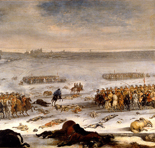 The Battle at Lund, painting by Johan Philip Lemke (1696).