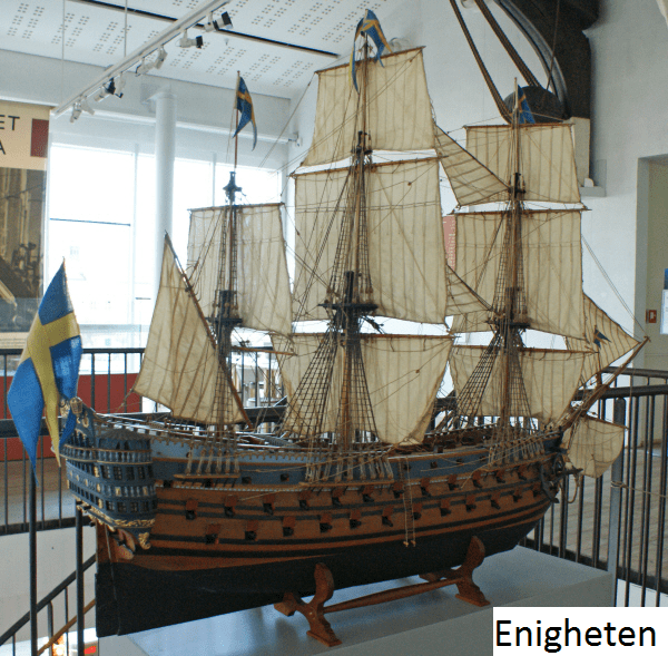 A model of Enigheten. Source: Sjöhistoriska.