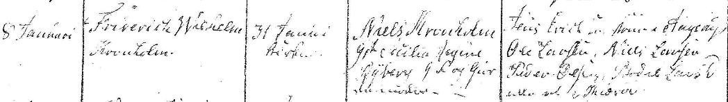 Friderick Wilhelms dop 1819. Ramløse församling.