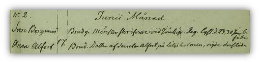 Anna och Svens bröllop 1814. Torpa församling.
