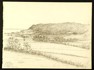 Huskvarna från Tormenås 1870. Källa: Digitalt Museum.