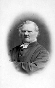 Johan Frigell 1882. Foto av Carl Axel Leverin.