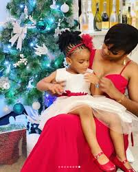 Nathalie Nkoah et sa fille