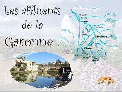 Les affluents de la Garonne