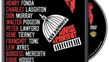 Advise and Consent (1962) starring Henry Fonda, Charles Laughton, Walter Pidgeon, Burgess Meredith, Gene Tierney, Peter Lawford