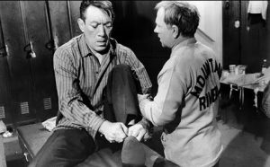 Anthony Quinn and Mickey Rooney in Requiem for a Heavyweight