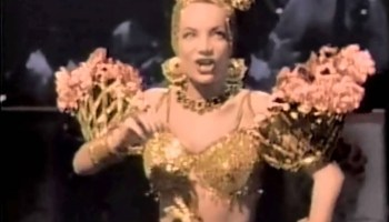 Song lyrics to He Hasn't Got a Thing to Sell, Written by Sam Coslow, Performed by Carmen Miranda and Andy Russell in Copacabana