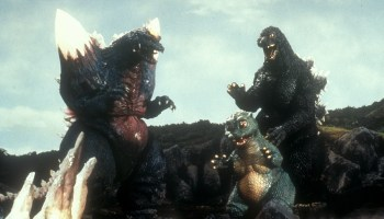 Space Godzilla with Minilla and Godzilla