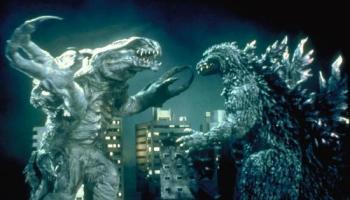 Godzilla 2000 - final battle between Godzilla and Orga