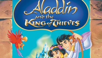 Aladdin and the King of Thieves, starring Gilbert Gottfried, Jerry Orbach, Scott Weinger, Linda Larkin, John Rhys-Davies