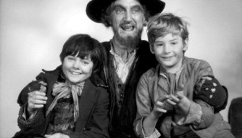 Oliver! with Fagan, the Artful Dodger, and Oliver Twist
