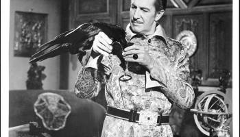 The Raven (Peter Lorre) and Vincent Price