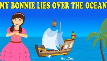 Song lyrics to My Bonnie Lies Over the Ocean, a traditional Scottish folk song