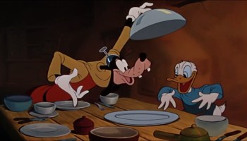 Song lyrics to Eat Until I Die, Performed by Goofy (Pinto Colvig) and Donald Duck (Clarence Nash) in Walt Disney's Fun and Fancy Free / Mickey and the Beanstalk