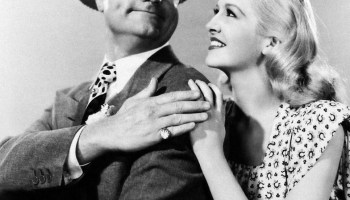 """Red Skelton and Marilyn Maxwell as the newlywed couple in """"The Show-Off"""""""