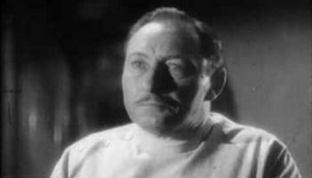 Boehner, Frankenstein's bitter assistant, performed by Lionel Atwill