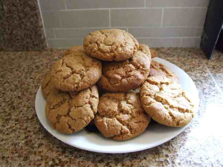 A plate of ginger spice cookies
