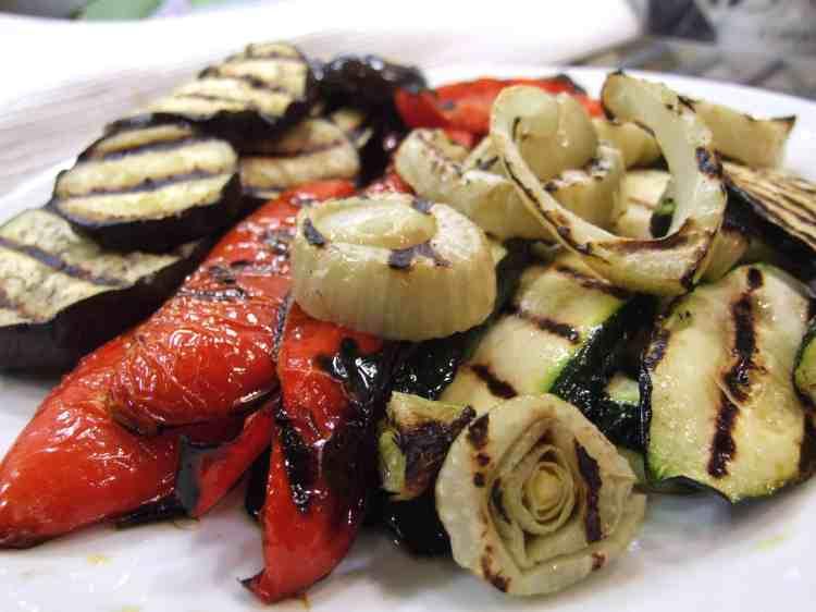 Griddled vegetables