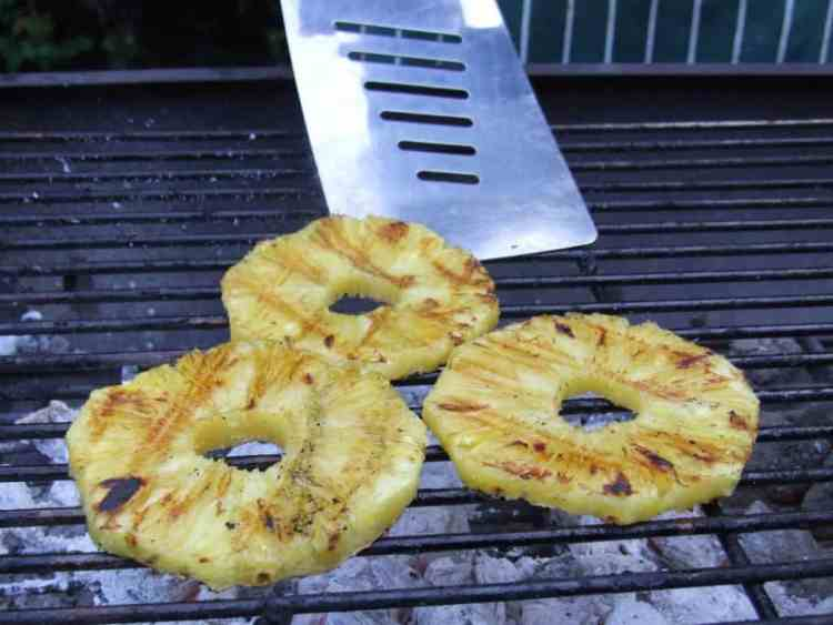 Pineapple on barbecue