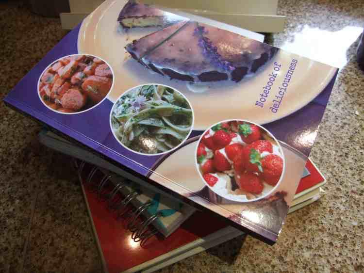 recipe notebook stack