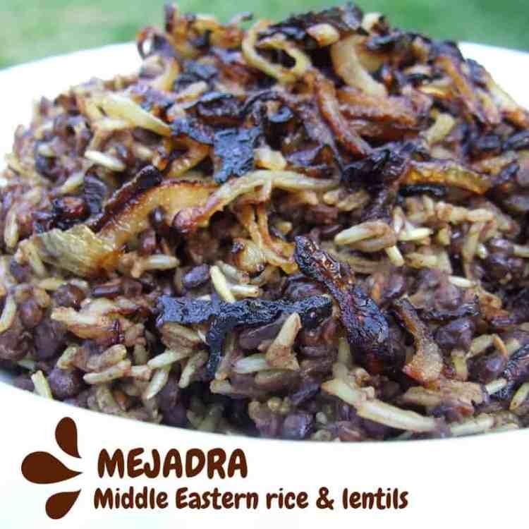 Mejadra - Middle Eastern rice & lentils