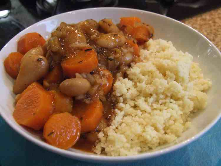 Carrot & butter-bean tagine