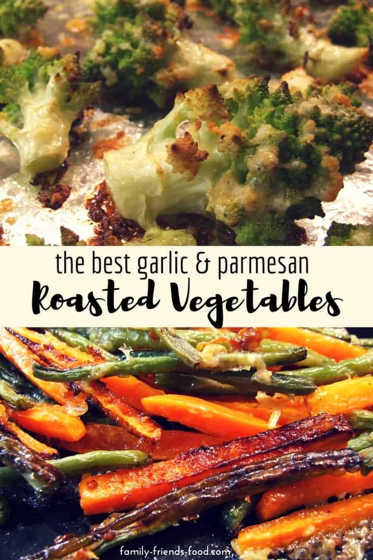 Super easy, and they taste incredible! These garlic & parmesan roasted vegetables will quickly become a dinnertime favourite. Tasty, crispy & gorgeous.