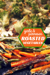 garlic & parmesan roasted vegetables - carrots, beans and cauliflower