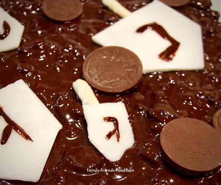 Chanukah chocolate bark.