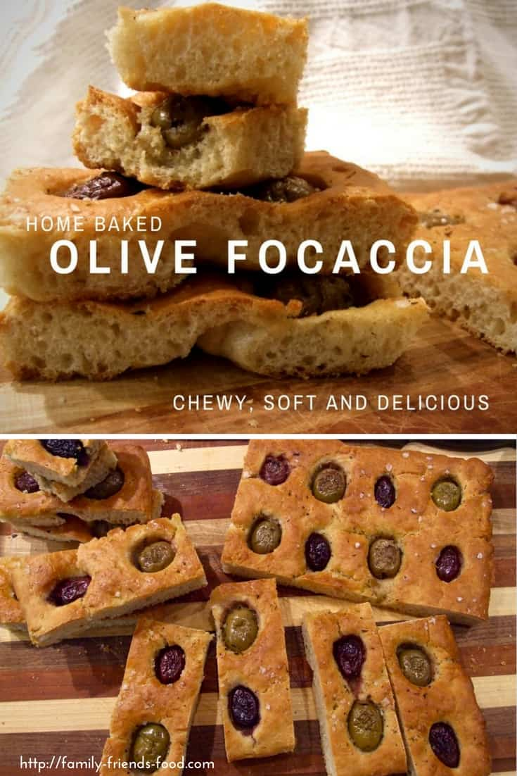 This easy-to-make Italian olive focaccia is a soft & slightly chewy bread with a wonderful flavour. A delicious savoury snack for adults & children alike.