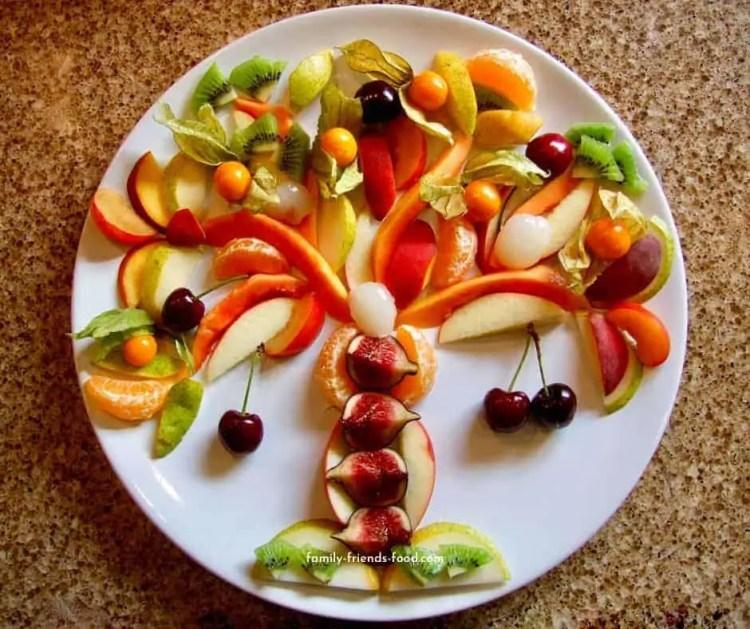 Tu b'shevat fruit platter.