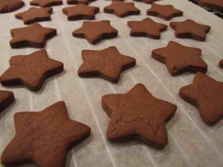Nutella shortbread star biscuits
