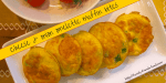 Cheese & onion omelette muffin bites