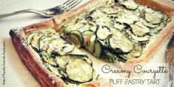 Creamy courgette (zucchini) puff pastry tart
