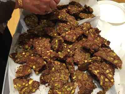 chocolate pistachio cookies