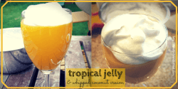 tropical jelly & whipped coconut cream