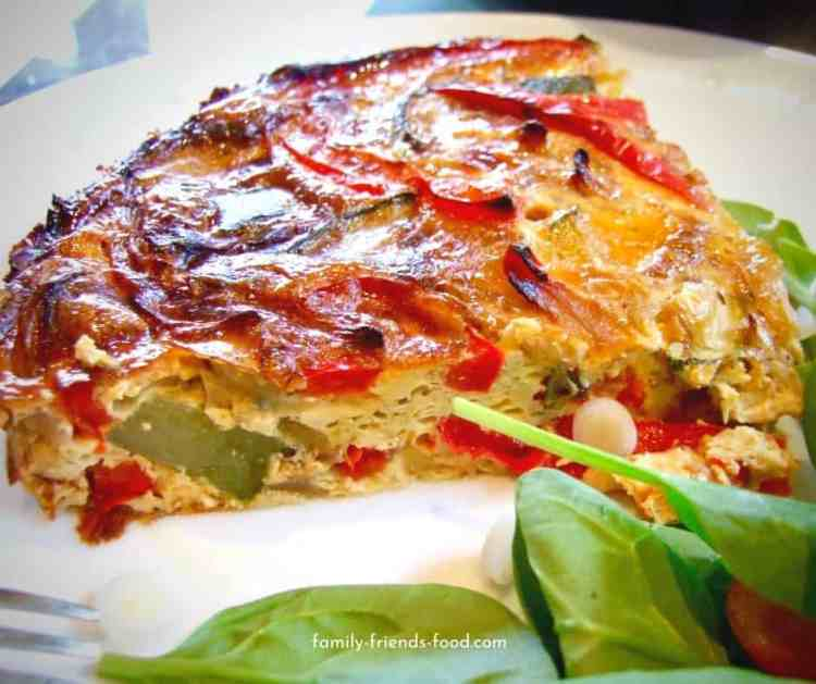 Crustless quiche & salad.