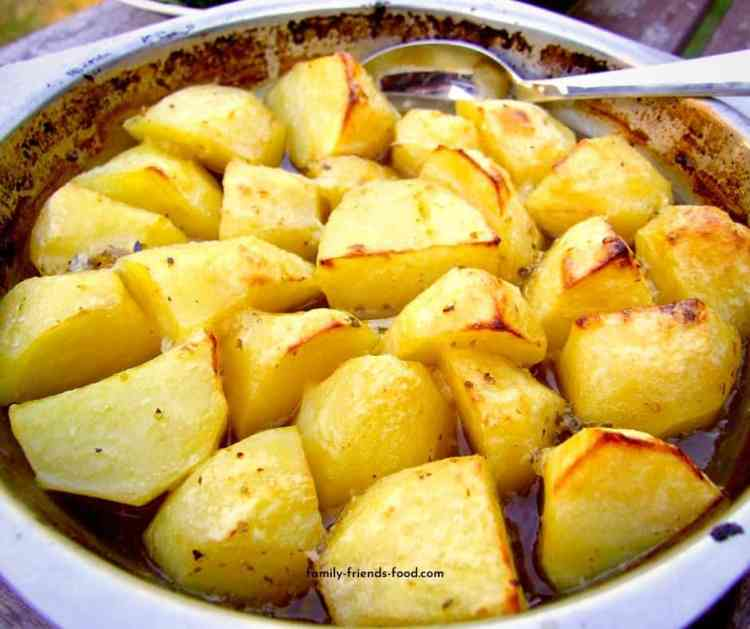 Greek lemon potatoes.