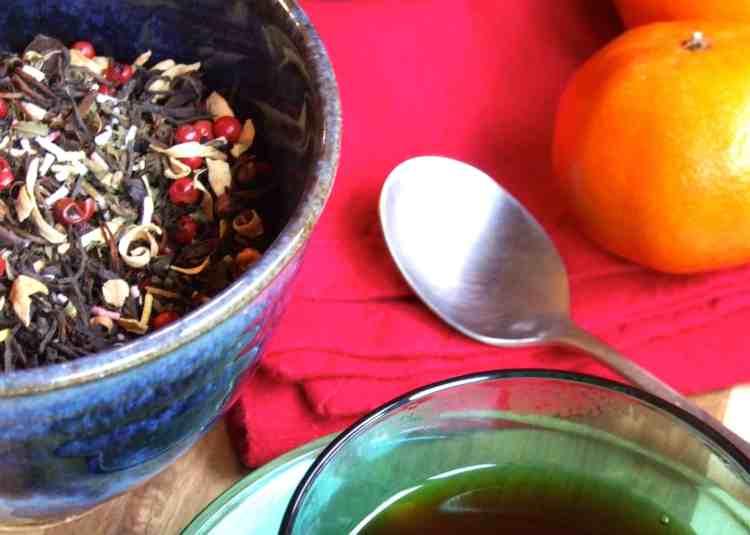 homemade festive blended tea