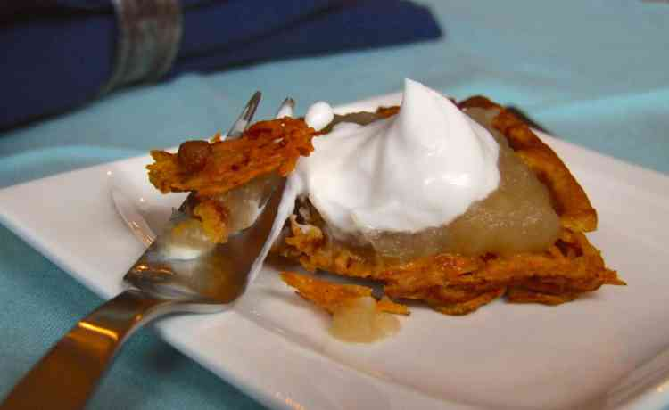 Sweet potato latke with applesauce & sour cream