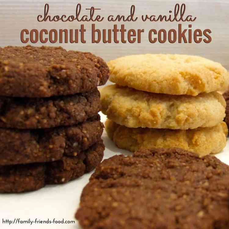 Moist and cakey, these delicious nut-free cookies contain homemade coconut butter for a rich delicious flavour. Perfect for lunchboxes, & Passover friendly!