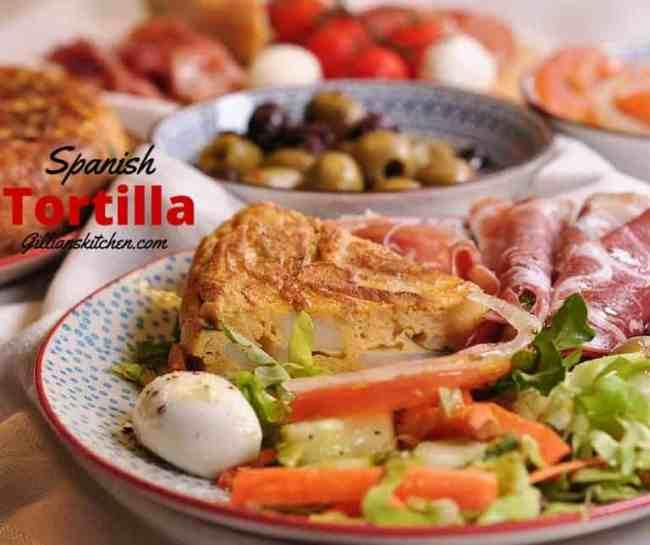 Spanish-Tortilla. Submitted to One Potato, Two Potato - a recipe link-up for delicious vegetarian-friendly potato & sweet potato recipes.