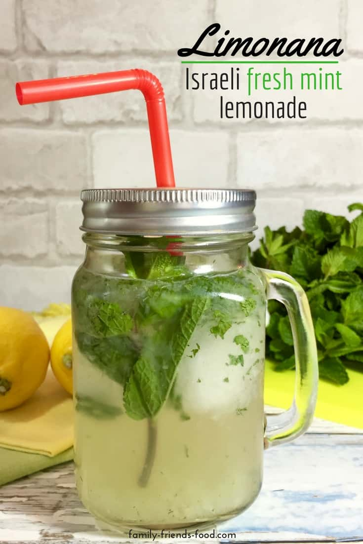 Limonana - Israeli fresh mint lemonade. The most refreshing drink of the summer! Limonana takes thirst-quenching homemade lemonade and kicks it up a notch for a cooling, invigorating beverage.