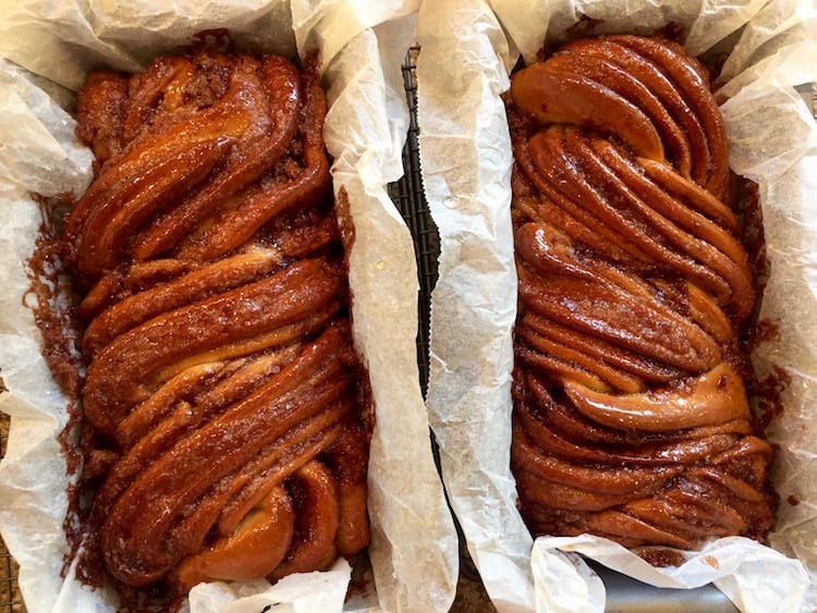 Sweet, delicious, gooey cinnamon babka recipe, taken from Shannon Sarna's book Modern Jewish Baker. Plus a review of this lovely recipe book.