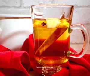 hot mulled apple juice