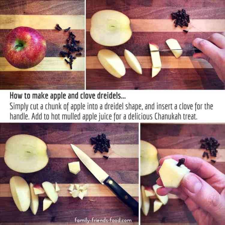 How to make apple & clove dreidels... Like a hug in a mug, this fruity & fragrant mulled apple juice has all the flavours of the season. Warm and delicious, it's perfect for Chanukah!